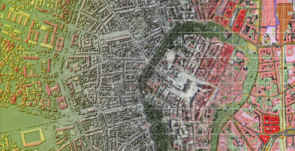 Land cover and ventilation Atlas of Krakow