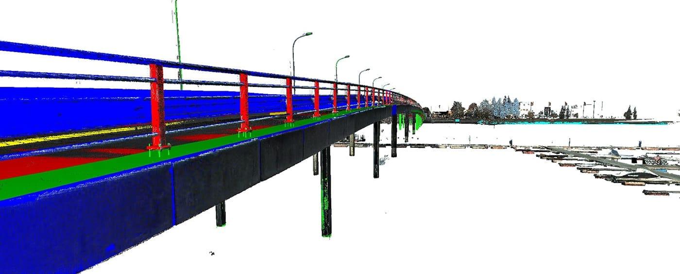 Model 3D mostu drogowego