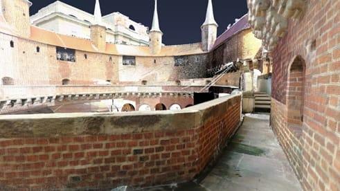 Skanowanie obiektu zabytkowego – Barbakan w Krakowie