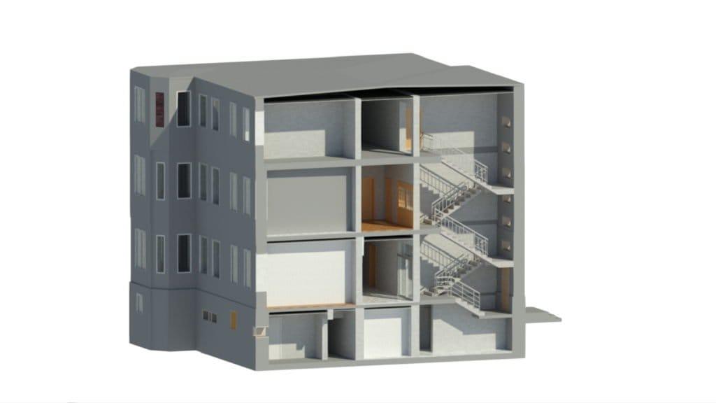 Model 3D budynku do termomodernizacji
