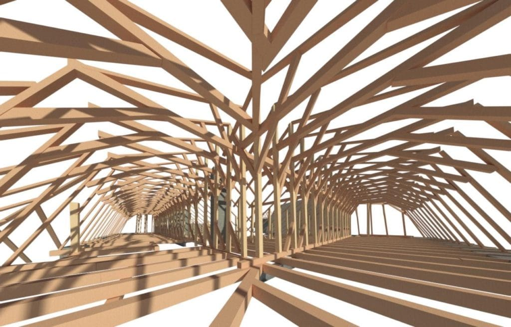 Inwentaryzacja więźby dachowej – pałac w Kurozwękach