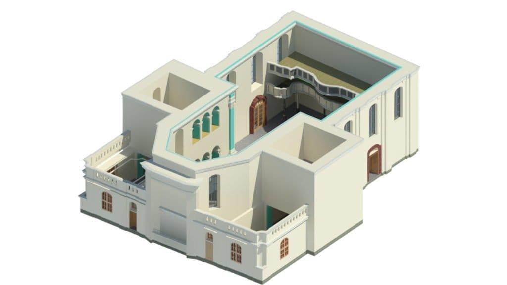 Kościół pw. Wszystkich Świętych w Pszczynie – model IFC