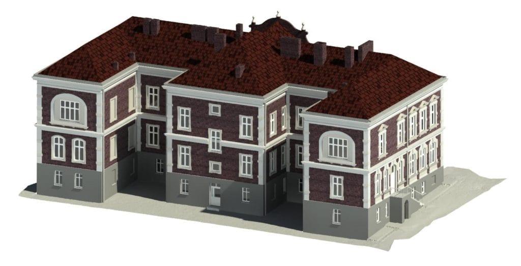 Model BIM elewacji budynku