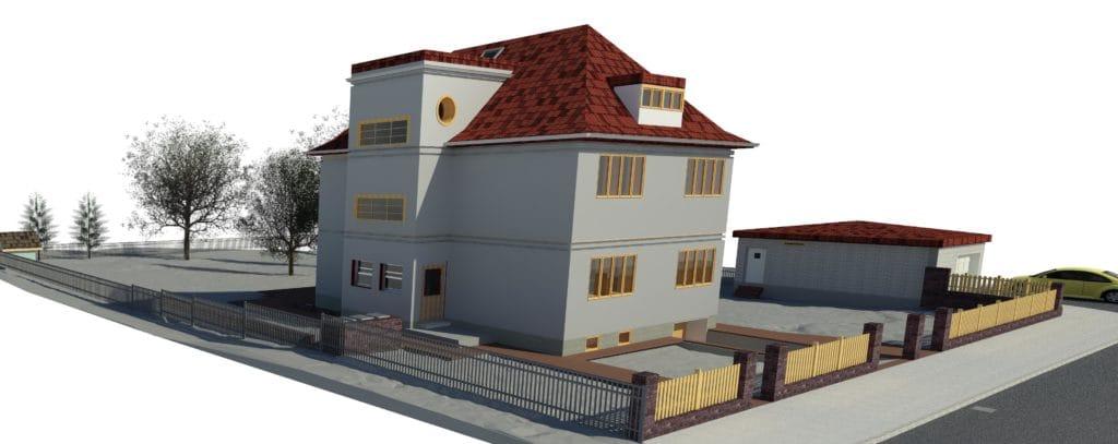 Dom z pełnym otoczeniem w IFC