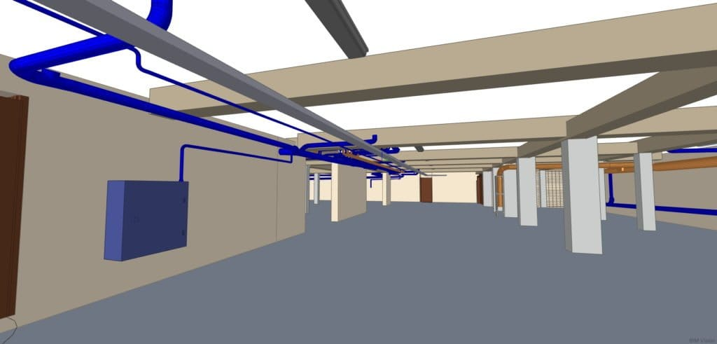Model BIM parkingu podziemnego wraz z infrastrukturą